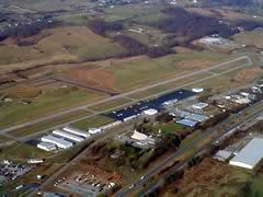 Aerial photo of KVJI (Virginia Highlands Airport)