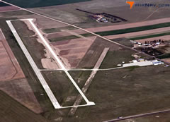Aerial photo of KIBM (Kimball Municipal Airport/Robert E Arraj Field)