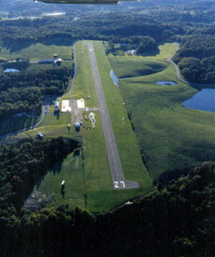 Aerial photo of 22I (Vinton County Airport)
