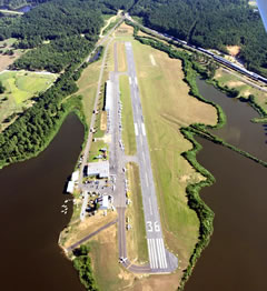 Aerial photo of 2L0 (Pineville Municipal Airport)
