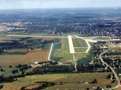 Aerial photo of KBRL (Southeast Iowa Regional Airport)