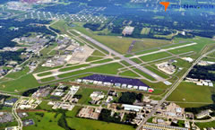 Aerial photo of KBTR (Baton Rouge Metropolitan Airport, Ryan Field)