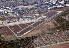 Aerial photo of KSLI (Los Alamitos Army Airfield)