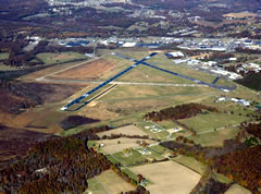 Aerial photo of KTHA (Tullahoma Regional Airport/William Northern Field)