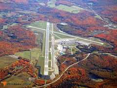 Aerial photo of KBGM (Greater Binghamton Airport/Edwin A Link Field)