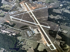 Aerial photo of KTYR (Tyler Pounds Regional Airport)