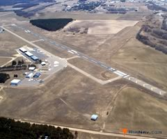 Aerial photo of KLXL (Little Falls/Morrison County Airport-Lindbergh Field)