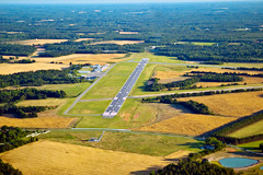 Aerial photo of KDBN (W H 'Bud' Barron Airport)