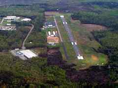 Aerial photo of KLKU (Louisa County Airport/Freeman Field)
