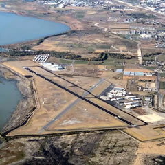 Aerial photo of KPVU (Provo Municipal Airport)