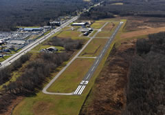 Aerial photo of 9G8 (Ebensburg Airport)
