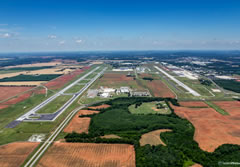 Aerial photo of KHSV (Huntsville International Airport-Carl T Jones Field)