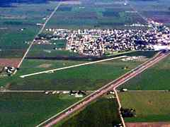 Aerial photo of KCZD (Cozad Municipal Airport)