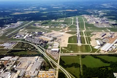 Aerial photo of KTUL (Tulsa International Airport)