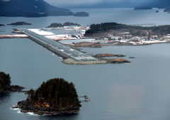 Aerial photo of PASI (Sitka Rocky Gutierrez Airport)