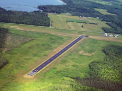 Aerial photo of Y55 (Crandon/Steve Conway Municipal Airport)
