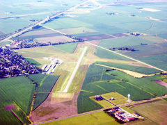 Aerial photo of KAAA (Logan County Airport)