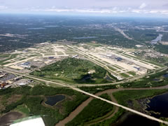 Aerial photo of KMSP (Minneapolis-St Paul International/Wold-Chamberlain Airport)