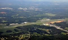Aerial photo of KSVH (Statesville Regional Airport)