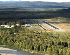 Aerial photo of PATK (Talkeetna Airport)