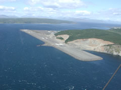 Aerial photo of PASD (Sand Point Airport)