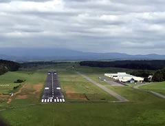 Aerial photo of KMTV (Blue Ridge Airport)