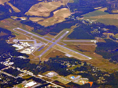 Aerial photo of KRMG (Richard B. Russell Regional Airport - J.H. Towers Field)