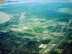 Aerial photo of KMSY (Louis Armstrong New Orleans International Airport)