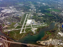 Aerial photo of KPWM (Portland International Jetport)
