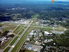 Aerial photo of KALB (Albany International Airport)