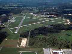 Aerial photo of KAYS (Waycross-Ware County Airport)