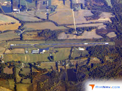 Aerial photo of KTGC (Gibson County Airport)