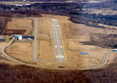 Aerial photo of KELZ (Wellsville Municipal Airport, Tarantine Field)