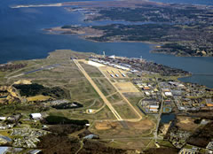 Aerial photo of KLFI (Langley Air Force Base)