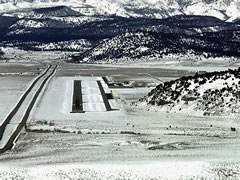 Aerial photo of KMMH (Mammoth Yosemite Airport)