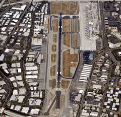 Aerial photo of KSNA (John Wayne-Orange County Airport)
