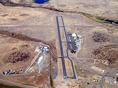 Aerial photo of 1O5 (Montague Airport-Yreka Rohrer Field)