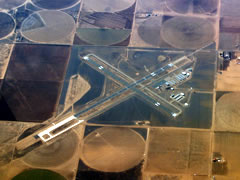 Aerial photo of KCVN (Clovis Municipal Airport)