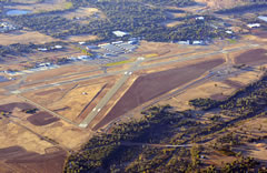 Aerial photo of KRDD (Redding Municipal Airport)