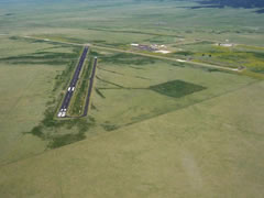 Aerial photo of KRTN (Raton Municipal Airport/Crews Field)