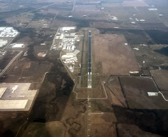 Aerial photo of KDTO (Denton Enterprise Airport)