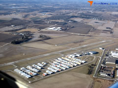 Aerial photo of KLVN (Airlake Airport)