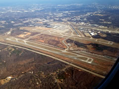 Aerial photo of KCLT (Charlotte/Douglas International Airport)