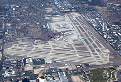 Aerial photo of KLAS (Mc Carran International Airport)