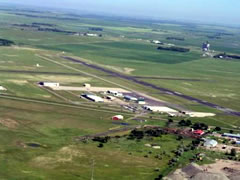 Aerial photo of KDVL (Devils Lake Regional Airport)