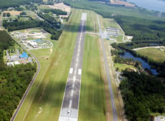 Aerial photo of KONX (Currituck County Regional Airport)