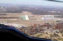 Aerial photo of KRBD (Dallas Executive Airport)