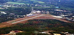 Aerial photo of KCON (Concord Municipal Airport)