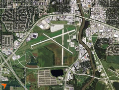 Aerial photo of KIOW (Iowa City Municipal Airport)