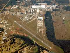Aerial photo of KLUL (Hesler-Noble Field Airport)